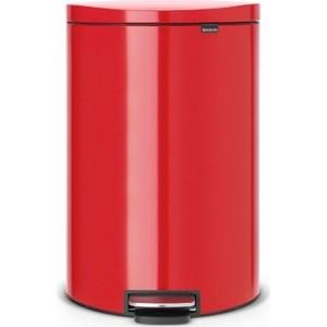 Мусорный бак с педалью Brabantia (485220) пламенно-красный brabantia мусорный бак с педалью newicon 3 л 26 4х17х23 5 см мятный металлик