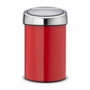 цены Ведро для мусора Brabantia Touch Bin (364426) пламенно-красный