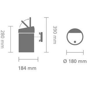 Купить Ведро Для Мусора Brabantia Touch Bin (364440) Матовый Черный