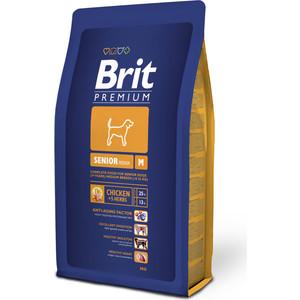 Сухой корм Brit Premium Senior M для пожилых собак средних пород 3кг (132346) корм сухой brit premium senior m для пожилых собак средних пород с курицей 3 кг