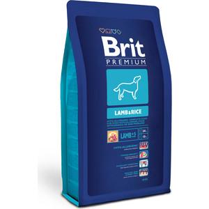 Сухой корм Brit Premium Lamb & Rice гипоаллергенный с ягнёнком и рисом для взрослых собак всех пород 8кг (132388) корм для всех пород собак brit premium гипоаллергенный 1 кг