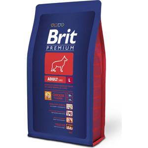 Сухой корм Brit Premium Adult L для взрослых собак крупных пород 3кг (132322) корм сухой brit premium senior m для пожилых собак средних пород с курицей 3 кг