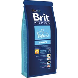 Сухой корм Brit Premium Puppies для щенков всех пород 15кг (132341) корм для всех пород собак brit premium гипоаллергенный 1 кг