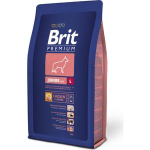 Сухой корм Brit Premium Junior L для молодых собак крупных пород 3кг (132330) корм для всех пород собак brit premium гипоаллергенный 1 кг