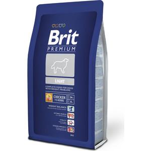 Сухой корм Brit Premium Light для собак всех пород, склонных к полноте 3кг (132340) пудовъ мука ржаная обдирная 1 кг