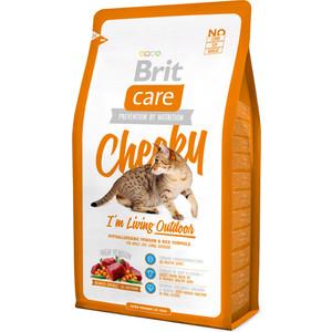 Сухой корм Brit Care Cat Cheeky Outdoor гипоаллергенный с олениной и рисом для активных кошек и кошек гуляющих на улице 2кг (132613)