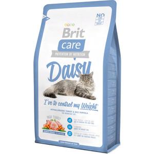 Сухой корм Brit Care Cat Daisy гипоаллергенный с индейкой и рисом для кошек с избыточным весом 2кг (132622)