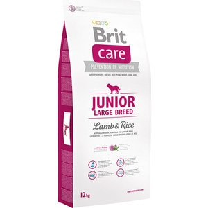 Сухой корм Brit Care Junior Large Breed Lamb & Rice гипоаллергенный с ягненком и рисом для молодых собак крупных пород 12кг (132703) holika holika маска тканевая для лица сок голубики blue berry juicy mask sheet 20 мл маска тканевая для лица сок голубики blue berry juicy mask sheet 20 мл 20 мл