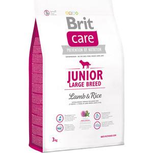 Сухой корм Brit Care Junior Large Breed Lamb & Rice гипоаллергенный с ягненком и рисом для молодых собак крупных пород 3кг (132704)