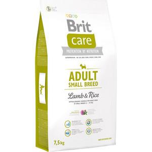 цена на Сухой корм Brit Care Adult Small Breed Lamb & Rice гипоаллергенный с ягненком и рисом для взрослых собак мелких пород 7,5кг (132706)