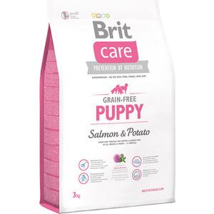 Сухой корм Brit Care Puppy All Breed Grain-free Salmon & Potato беззерновой с лососем и картофелем для щенков всех пород 3кг (132719)