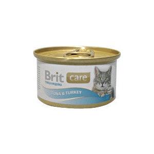 Консервы Brit Care Cat Tuna & Turkey с тунцом и индейкой для кошек 80г (100063)