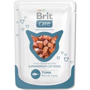 Паучи Brit Care Cat Tuna с тунцом для кошек 80г (100119) brit care cat sunny beautiful hair 7 кг