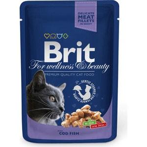 Паучи Brit Premium Cat Cod Fish с треской для кошек 100г (100307)