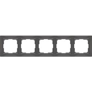 Рамка Werkel Snabb Basic на 5 постов серо-коричневый WL03-Frame-04