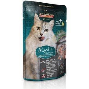 Паучи Leonardo Finest Selection Fish & Shrimp с рыбой и креветками для кошек 85г (756335) креветки black shell shrimp 10 30