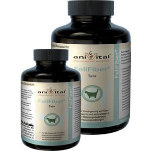 Пищевая добавка Anivital FeliFiber Tabs для борьбы с избытком веса, облегчает выведение шерсти из желудка для кошек 140таб/70г (523755)