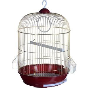 Клетка KREDO A309G круглая с гальваническим покрытием золотая решетка для птиц
