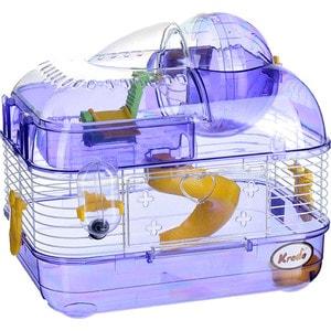 Клетка KREDO М02 из окрашенной проволоки со счетчиком в подарочной упаковке для хомяков