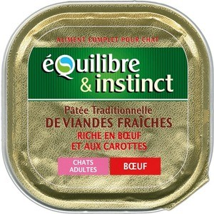 Консервы Equilibre & Instinct with Beef and Carrot паштет из говядины с морковью для взрослых кошек 100г (424/605662)