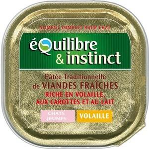 Консервы Equilibre & Instinct with Poultry, Carrot and Milk паштет из домашней птицы с морковью и молоком для котят 100г (425/605659)