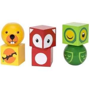 Brio деревянные кубики на магнитах с животными,6 деталей (30445)