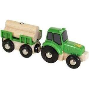 Brio Трактор с бревнами (33799)