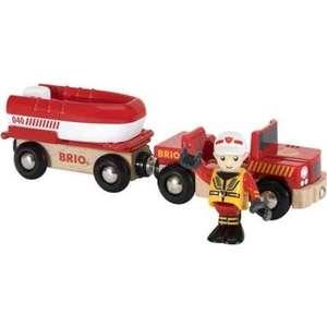 Brio Машина с прицепом-спасательной лодкой (33859)