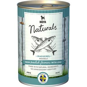 Консервы BOZITA Naturals Mackerel паштет со скумбрией для собак 410г (5144)
