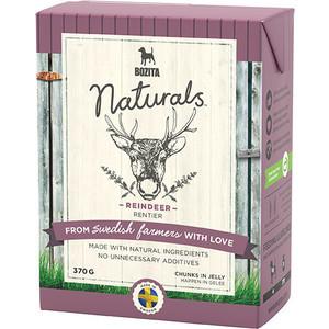 Консервы BOZITA Naturals Reindeer кусочки в желе с мясом оленя для собак 370г (4263) консервы для кошек bozita feline с лососем в желе 370 г