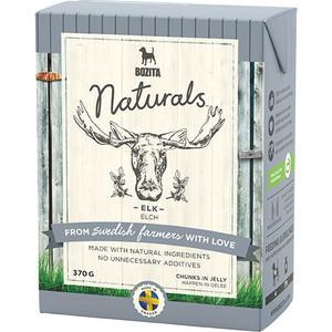 Консервы BOZITA Naturals Elk кусочки в желе с мясом лося для собак 370г (4264)