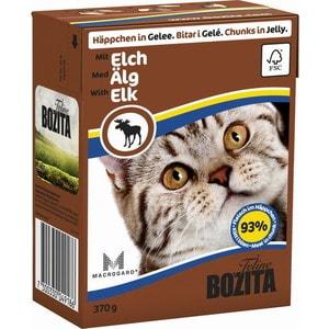 Консервы BOZITA Chunks in Jelly with Elk кусочки в желе с лосем для кошек 370г (4918) консервы для кошек bozita feline с лососем в желе 370 г