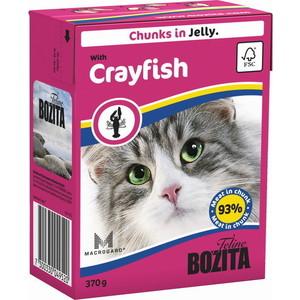 Консервы BOZITA Chunks in Jelly with Crayfish кусочки в желе с лангустом для кошек 370г (4952) консервы для кошек bozita feline с лососем в желе 370 г
