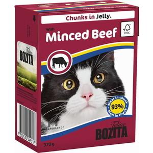 Консервы BOZITA Chunks in Jelly with Minced Beef кусочки в желе с рубленной говядиной для кошек 370г (4953) консервы для кошек bozita feline с лососем в желе 370 г