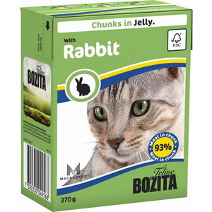 Консервы BOZITA Chunks in Jelly with Rabbit кусочки в желе с кроликом для кошек 370г (4956) консервы для кошек bozita feline с лососем в желе 370 г