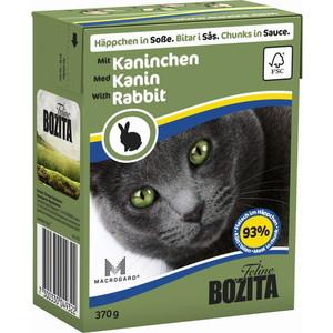 Консервы BOZITA Chunks in Sauce with Rabbit кусочки в соусе с кроликом для кошек 370г (4932) консервы для кошек bozita feline с лососем в желе 370 г