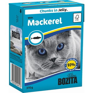 Консервы BOZITA Chunks in Jelly with Mackerel кусочки в желе со скумбрией для кошек 370г (4951) консервы для кошек bozita feline с лососем в желе 370 г