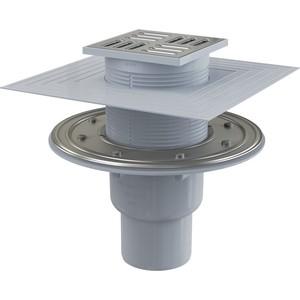 Душевой трап AlcaPlast 105х105/50/75 подводка прямая, гидрозатвор комбинированный SMART (APV2324)