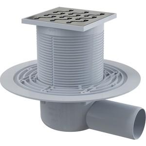 Душевой трап AlcaPlast 105х105/50 подводка боковая, гидрозатвор мокрый (APV102)