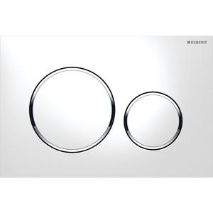 Клавиша Geberit Sigma 20 двойной смыв (115.882.KJ.1) белый / хром глянцевый клавиша смыва geberit sigma 80 электронная зеркальное стекло 116 090 sm 1