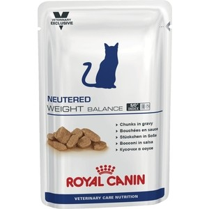 Паучи Royal Canin ВКН Neutered Weight Balance диета для стерилизованных кошек склонных к полноте 100г (772001) fat cat extensive flex neck magic extension arm jaws mount for gopro hero 4 3 3 2 1 black