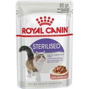 Паучи Royal Canin Sterilised кусочки в соусе для стерилизованных кошек 85г (479001) корм сухой royal canin exigent 35 30 savoir sensation для кошек привередливых к вкусу продукта 400 г