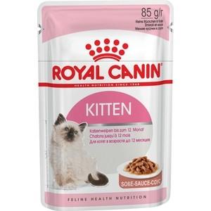 Паучи Royal Canin Kitten Instinctive кусочки в соусе для котят с 4 до 12 мес 85г (481001)