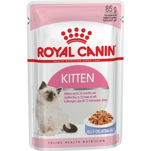 Паучи Royal Canin Kitten Instinctive кусочки в желе для котят с 4 до 12 мес 85г (783001)