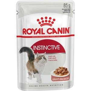 Паучи Royal Canin Instinctive кусочки в соусе для кошек 85г (482001) сухой корм royal canin mini dermacomfort дл собак мелких пород склонных к кожным раздраженим и зуду 2кг 380020
