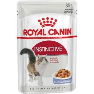 Паучи Royal Canin Instinctive кусочки в желе для кошек 85г (483001) royal canin rc exigent 35 30 savour sensation new экзиджент сэйвор сенсейшн 10 кг питание для взыскательных ко