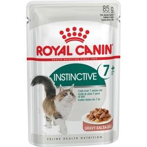 Паучи Royal Canin Instinctive 7+ кусочки в соусе для кошек старше 7 лет 85г (484001) цена и фото