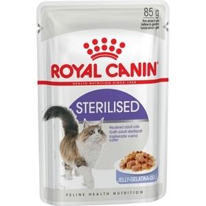 Паучи Royal Canin Sterilised кусочки в желе для стерилизованных кошек 85г (787001) сухой корм royal canin mini dermacomfort дл собак мелких пород склонных к кожным раздраженим и зуду 2кг 380020