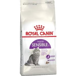 Сухой корм Royal Canin Sensible 33 для кошек чувствительной пищеварительной системой 4кг (441040) сухой корм royal canin mini dermacomfort дл собак мелких пород склонных к кожным раздраженим и зуду 2кг 380020