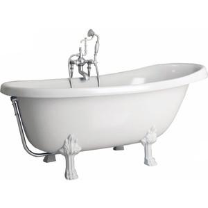 Ванна из литого мрамора Фэма Стиль Салерно 170х83 см лапы белые лапы rdx лапы t4 white new пара